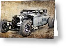 Faded Ford Coupe Greeting Card