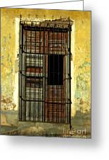 Faded Wooden Shutters In Cuba Greeting Card