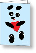 Fading Like A Flower. Panda In Love. 02 Greeting Card
