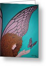 Faerie And Butterfly Greeting Card