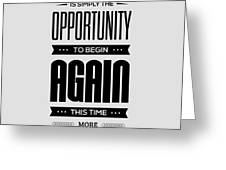 Failure Is Simply The Opportunity Henry Ford Success Quotes Poster Greeting Card