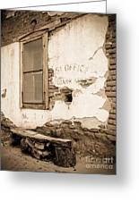 Fairbank Post Office 1 - Sepia Toned Greeting Card