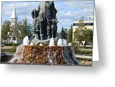 Fairbanks Statue Greeting Card