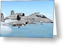 Fairchild A-10 Thunderbolt Greeting Card