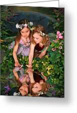 Fairies And Dragonflies Greeting Card