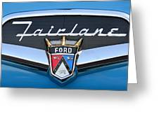 Fairlane Name Plate Greeting Card