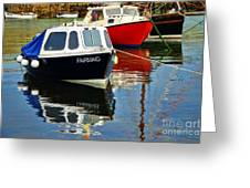 Fairmaid At Mousehole Harbour Greeting Card