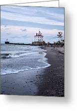 Fairport Harbor Breakwater Lighthouse Greeting Card