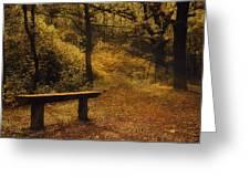Fairy Autumn Light  Greeting Card