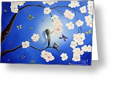 Fairy Blossoms By Shawna Erback Greeting Card by Shawna Erback