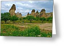 Fairy Chimneys In Cappadocia-turkey Greeting Card