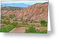 Fairy Chimneys In The Making In Cappadocia-turkey Greeting Card