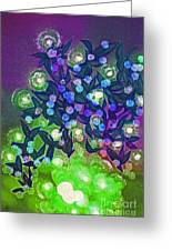 Fairy Light Garden Green By Jrr Greeting Card
