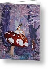 Fairy On A Mushroom Greeting Card