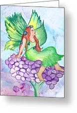 Fairy On Lilac Greeting Card