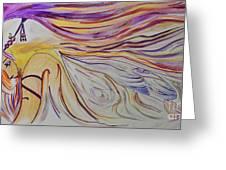 Fairy Princess Mixed Media Greeting Card by Janice Rae Pariza