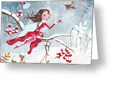 Fairy With Berries Greeting Card