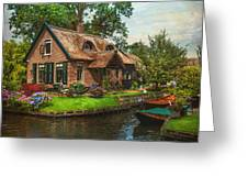 Fairytale House. Giethoorn. Venice Of The North Greeting Card