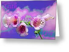 Faith-hope-love Greeting Card