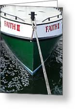 Faith II Fishing Boat Greeting Card