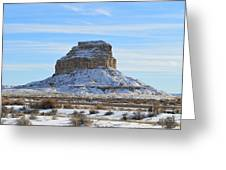 Fajada Butte In Snow Greeting Card