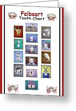 Falboart Tooth Chart Greeting Card