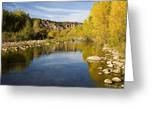 Fall Along River Sierra Ancha Greeting Card
