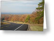 Fall Along The Country Highway 2 Greeting Card