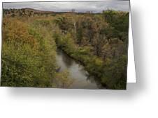 Fall Along The Creek Greeting Card