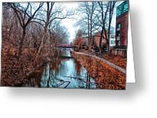 Fall Along The Delaware Canal Greeting Card