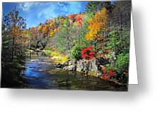Fall Along The Linville River Greeting Card
