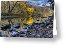 Fall Along The Scenic River Greeting Card