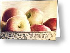 Fall Apples Greeting Card