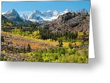Fall Aspen Below The Sierra Crest Greeting Card