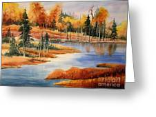 Fall At Elk Island  Greeting Card