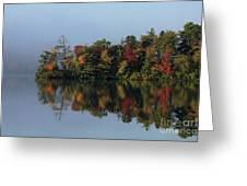 Fall At Heart Pond Greeting Card