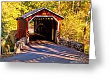 Fall At Kurtzs Mill Covered Bridge Greeting Card