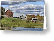 Fall At The Horse Farm Greeting Card
