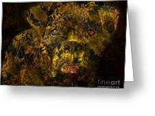 Fall Boxer Greeting Card by Judy Wood