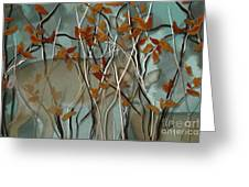 Fall Branches With Deer Greeting Card