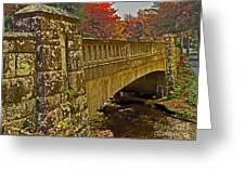 Fall Bridge Greeting Card