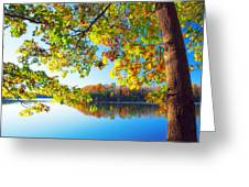 Fall By The Lake Greeting Card