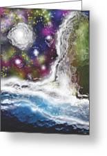 Fall By The Sea Greeting Card by Jessie J De La Portillo