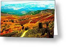 Fall Carpet At Lands End Greeting Card