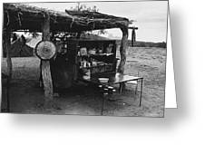 Fall Cattle Round-up Tohono O'odham Reservation Cook's Work Area Hanging Meat For Curing Near Sells  Greeting Card