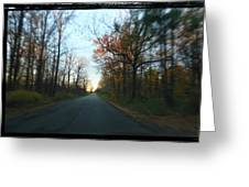 Fall Color Blur Greeting Card