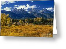 Fall Color Tetons Blacktail Ponds Grand Tetons Nationa Greeting Card