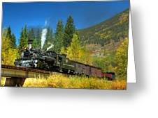 Fall Colored Bridge Greeting Card