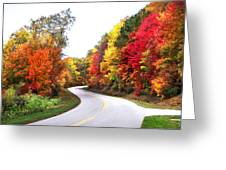 Fall Colors Along The Blueridge Parkway Greeting Card