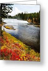 Fall Colors And Waterfalls Greeting Card